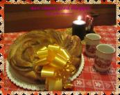 Corona di panbrioches con crema di marroni