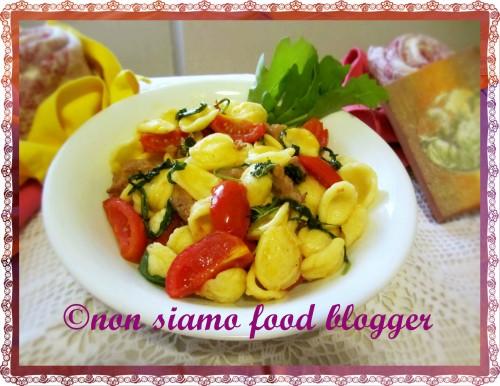 Orecchiette Rucola, Pomodorini e Salsiccia