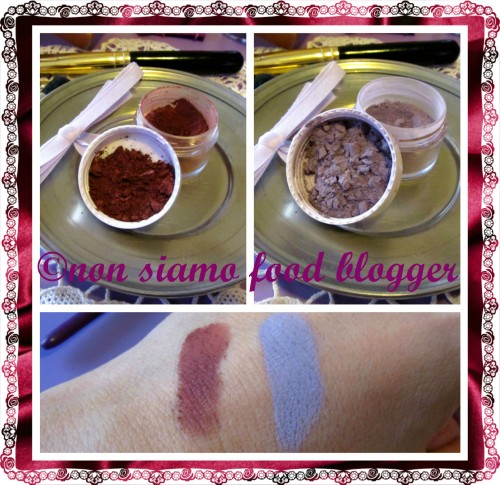 Home made eyeshadows