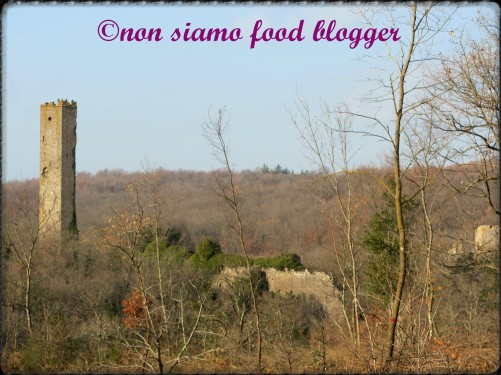 Torre Medievale e Paesaggio Invernale