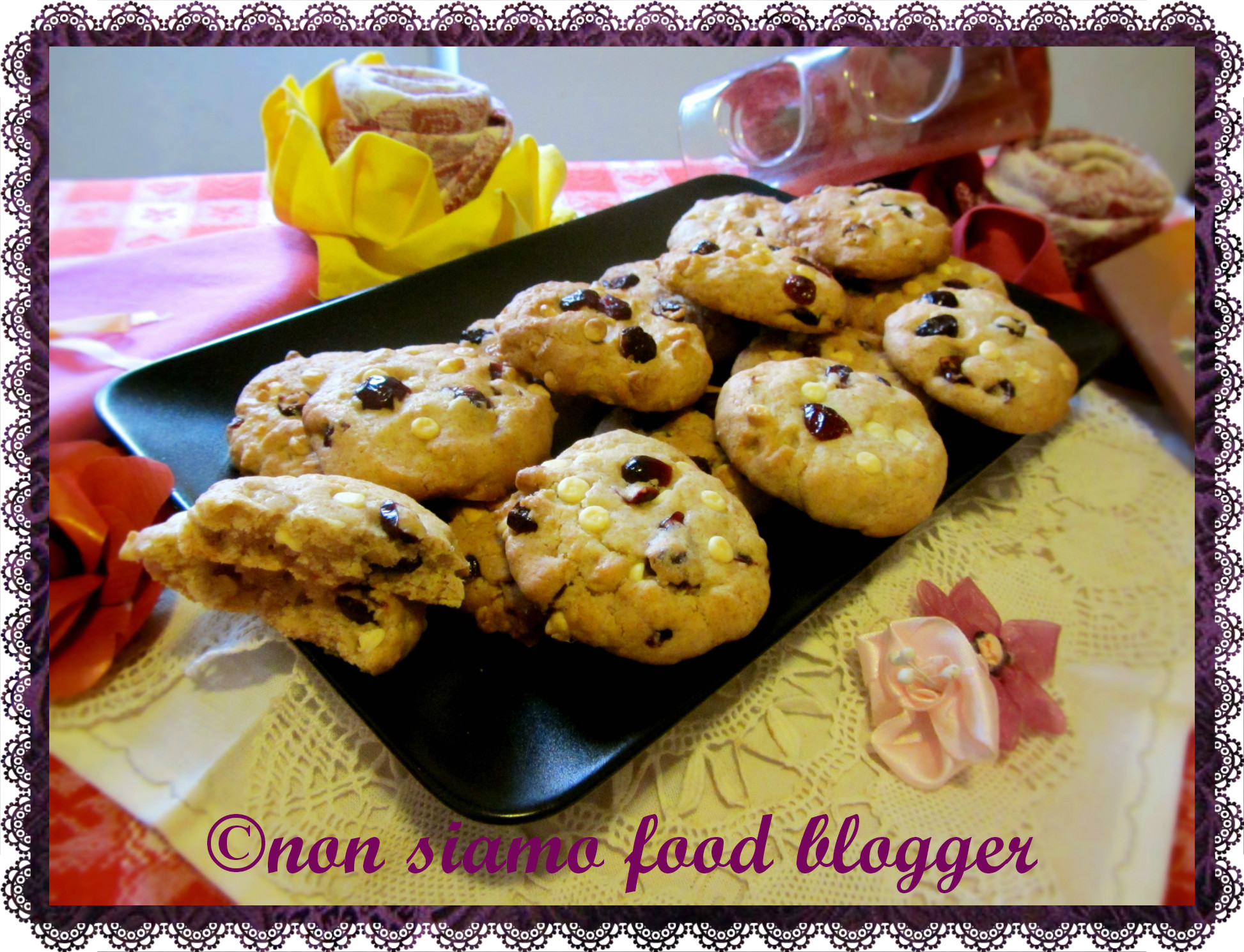Ricetta Cookies Cioccolato Bianco E Mirtilli.Cookies Senza Burro Cioccolato Bianco E Mirtilli Nonsiamofoodblogger